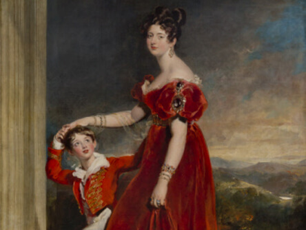 Marchioness of Londonderry and her Son
