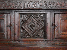 Carved cupboard